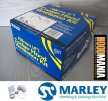 "WC Bathroom Extractor Fan External Vent Kit 100mm 4"" White Grill Marley M431"
